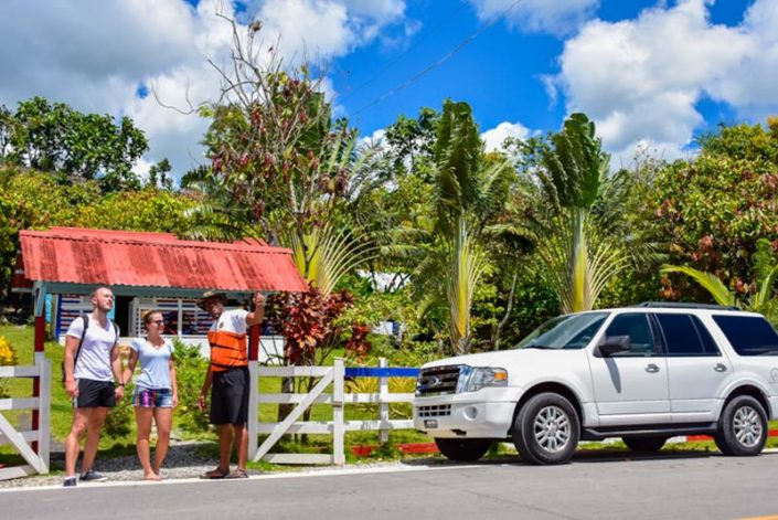 Guests exploring with local guide countryside of Punta Cana- Outback Explorer Tour