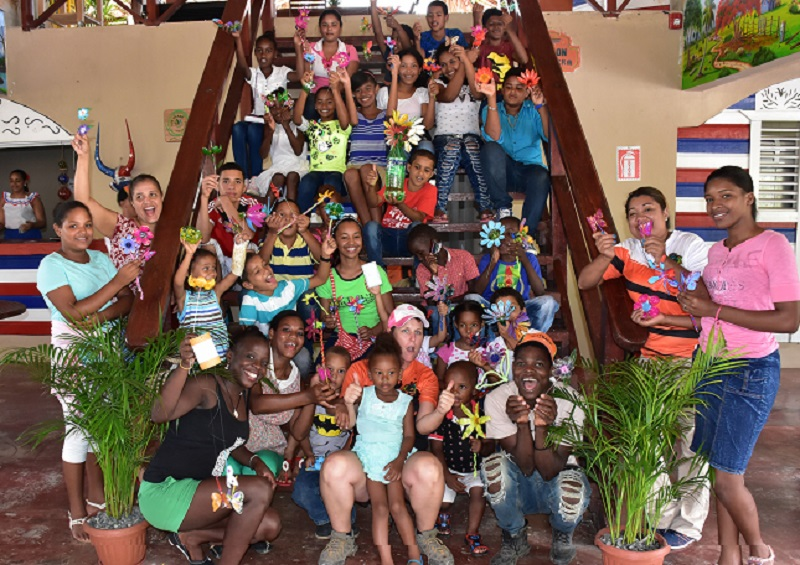 group of children visiting Ranch for summer camp in Punta Cana