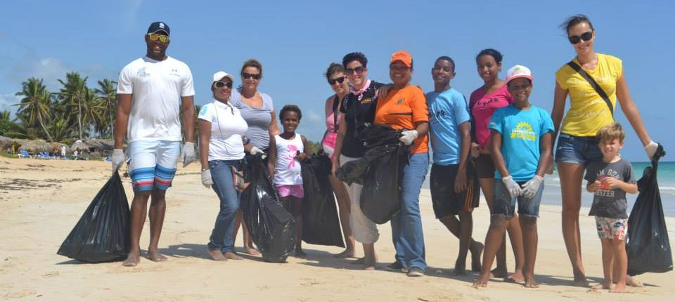 beach clean up with children and our team
