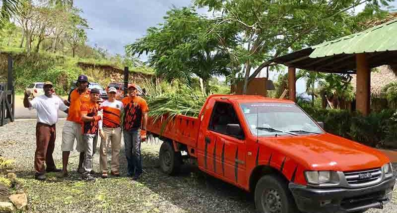 Outback Safari employees cleaning up ranch in Punta Cana after Hurrican Maria hit Dominican Republic