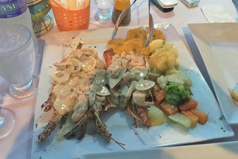 Lobster dish- Casa del Pescador-restaurant in Cabarete-Dominican Republic