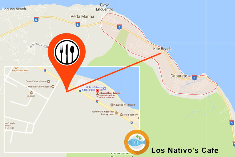 Map to find restaurant Nativo's Cafe to try great seafood-Outback Adventures Dominican Republic went for a visit
