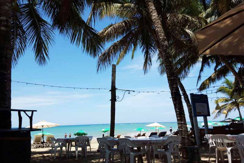Ocean view from restaurant La Casita de papi in Cabarete- Outback Safari tours in Cabarete