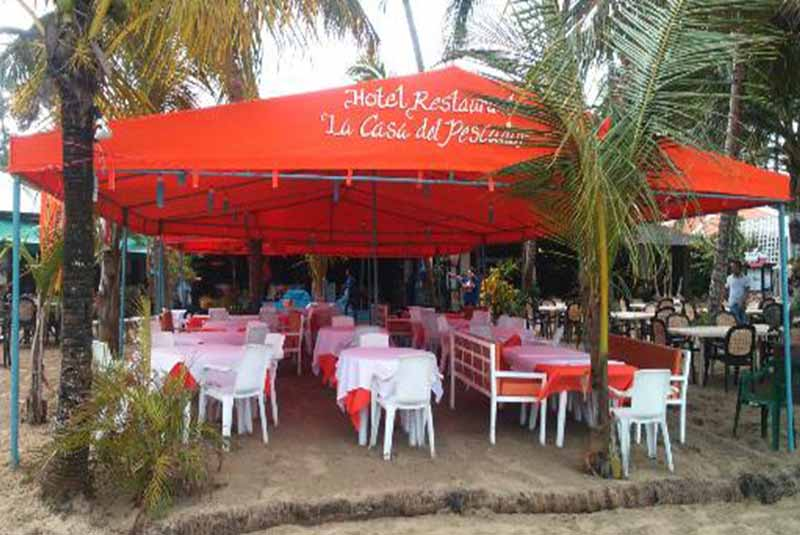 beach restaurant in Cabarete- Casa del pescador-Dominican Republic