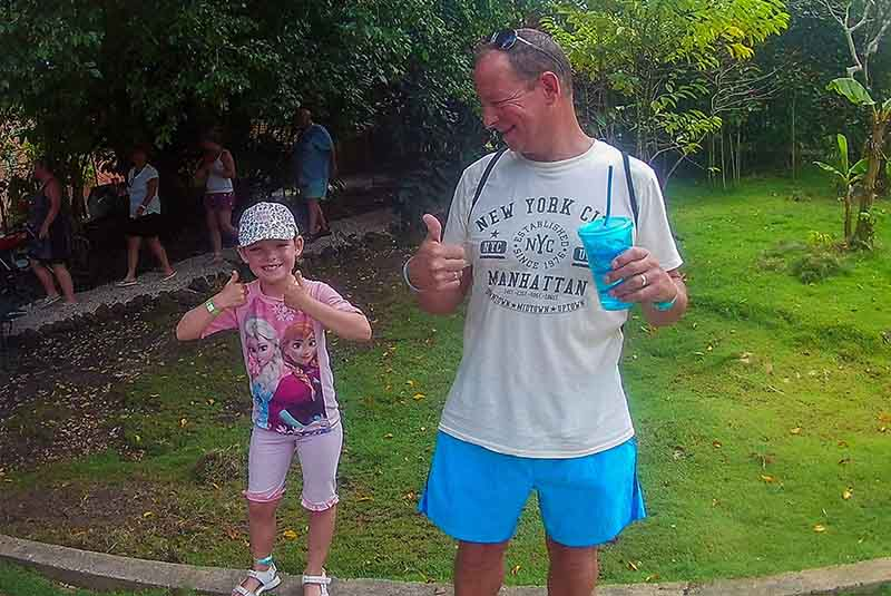 father and daughter having a great time with Outback Safari in Punta Cana