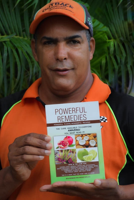 local guide with self written book about natural remedies