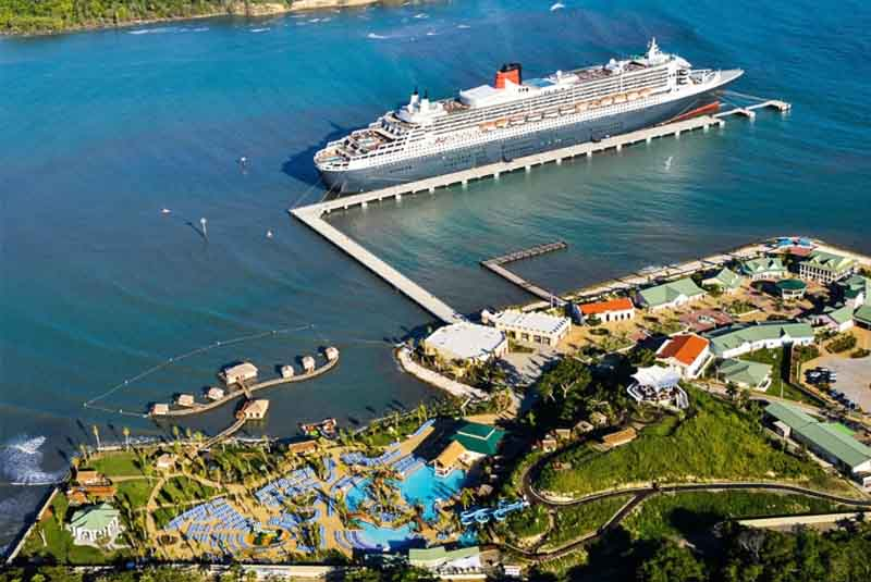 Aerial Viw At Carnival Cruise Ship In Amber Cove Puerto Plata