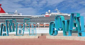 Amber Cove sign at cruise port Puerto Plata - Dominican Republic