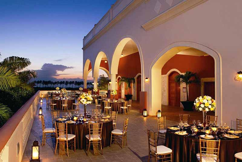 wedding setting and decor at Dreams Punta Cana hotel in Dominican Republic