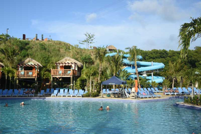 Water park with pools and slides in Amber Cove - Puerto Plata