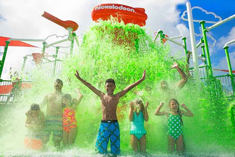 kids having fun at water park in hotel Nickelodeon in Punta Cana - Dominican Republic