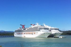 cruise line ships on pier in Amber Cove - Puerto Plata