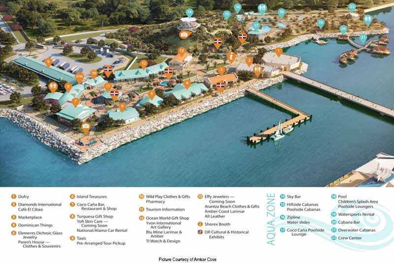 Map of Amber Coves Layout - Dominican Republic