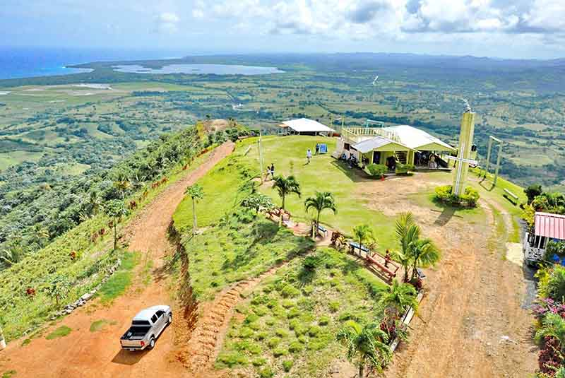 aerial view from top of mountain in Miches - Dominican republic