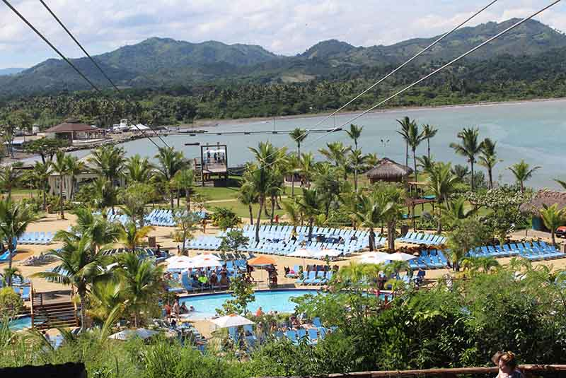 zip lines in Amber Cove - Cruise port in Puerto Plata