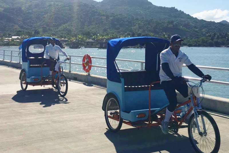 guides on bicycle offering transport in Amber Cove - Puerto Plata