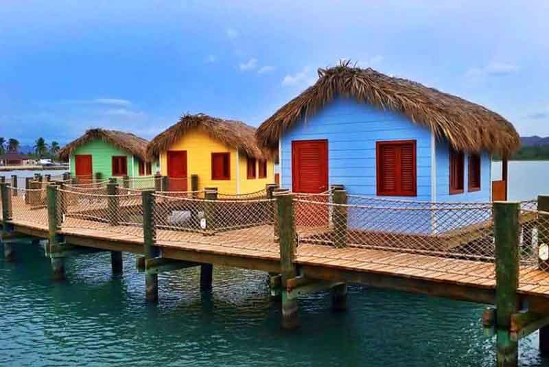 water bungalows in Amber Cove - Dominican Republic