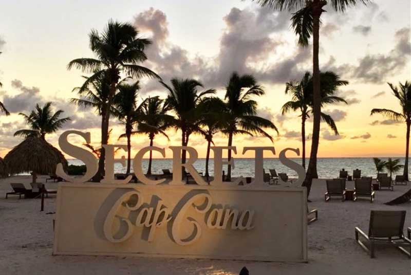 sign of Secrets Cap Cana on the beach - Dominican Republic