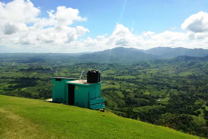 mountain view from top at Montaña Redonda in Miches - Dominican Republic