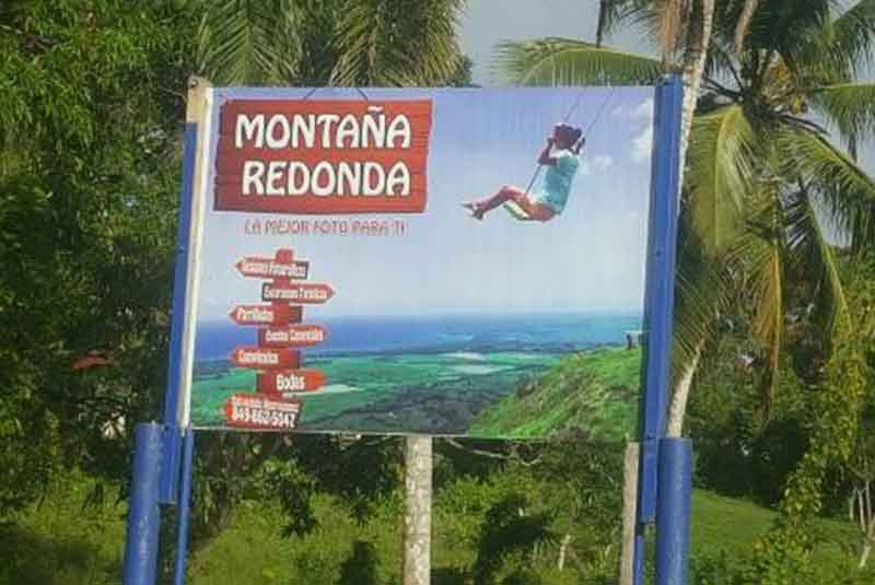street sign for Montaña Redonda in Miches - Dominican Republic