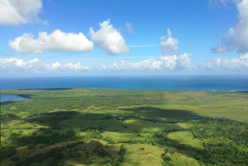 ocean view from mountain top in Miches - Dominican Republic