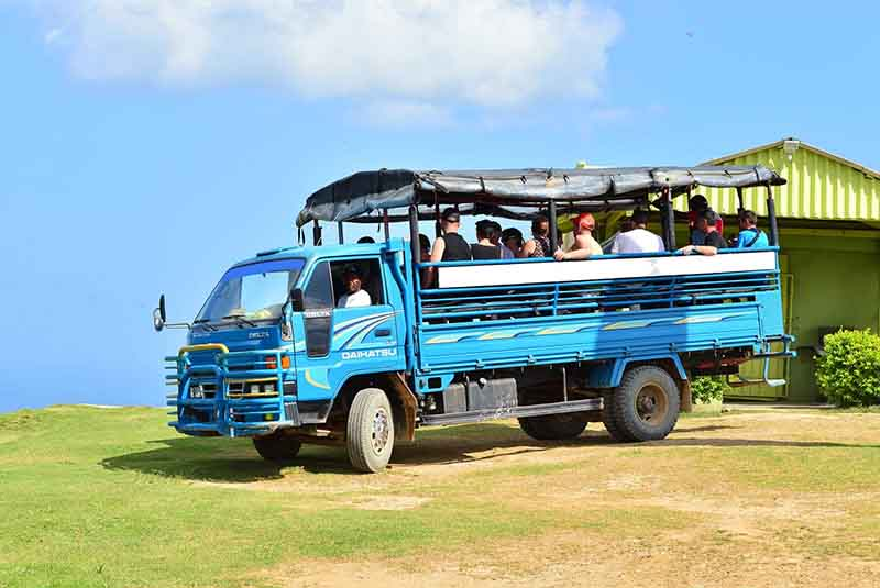 Safari truck with tourists in Miches - Dominican Republic