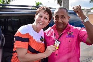 Outback Adventures staff showing local registration of taxi driver in Punta Cana