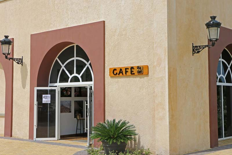 coffee shop in Amber Cove - cruise port in Puerto Plata
