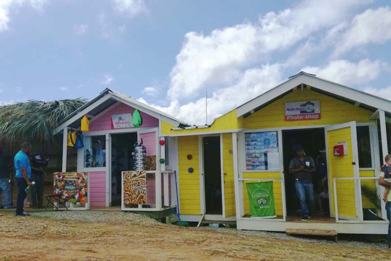 local shops on Montaña Redonda in Miches - Dominican Republic