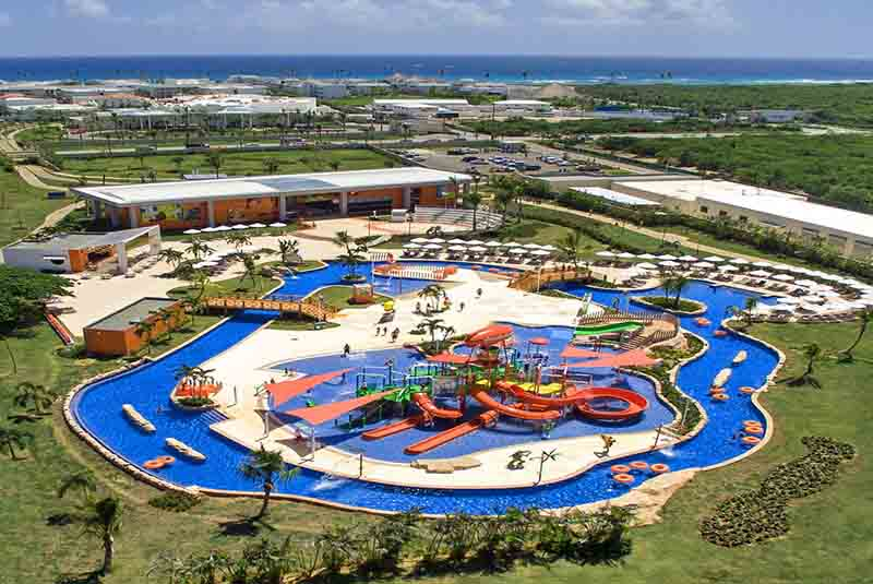 pool area with water park at Nickelodeon hotel in Uvero Alto - Dominican Republic