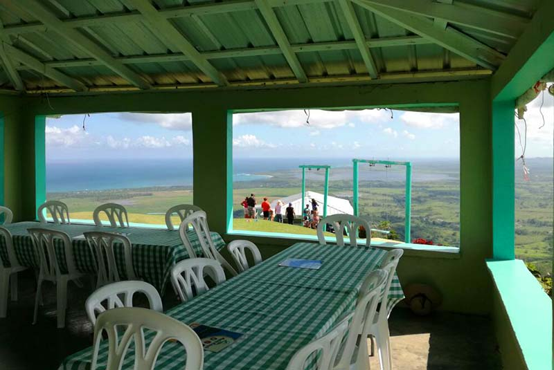 Montaña Redonda - restaurant with great view on Mountain top in Miches - Dominican Republic