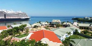 cruise port in Puerto Plata with cruise ship - Dominican Republic