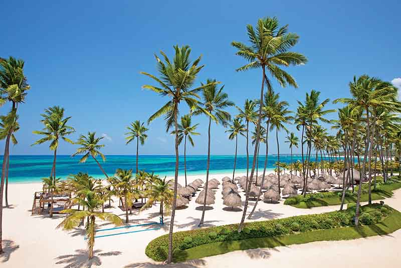 Beach view in Punta Cana hotel Secrets Royal Punta Cana - Dominican Republic