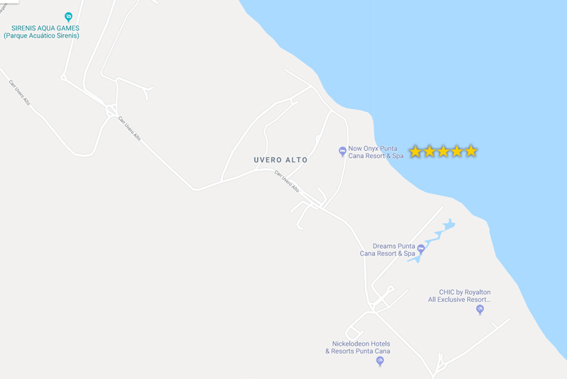 map to find Now Onix in Punta Cana- Dominican Republic