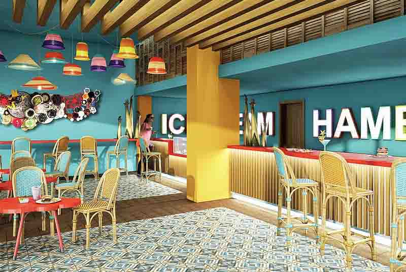 the hotels snack bar - Now Onix Punta Cana - Dominican Republic