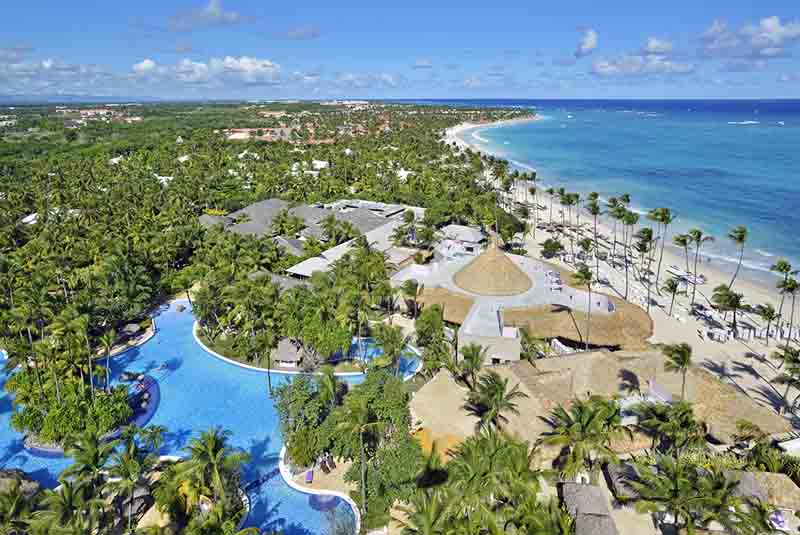 arieal view at hotels pool and beach area - Paradisus Punta Cana -Dominican Republic