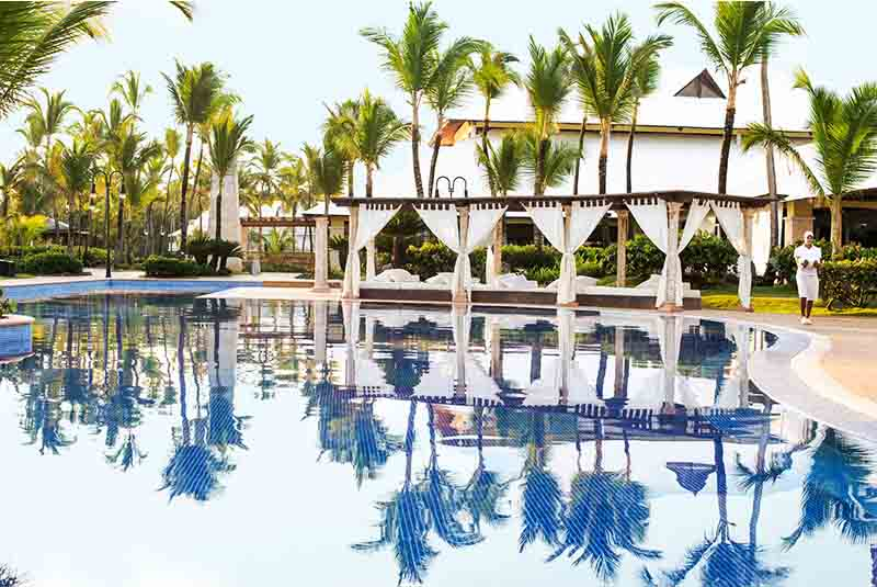 hotels pool in Ecellence Punta Cana resort in Dominican Republic