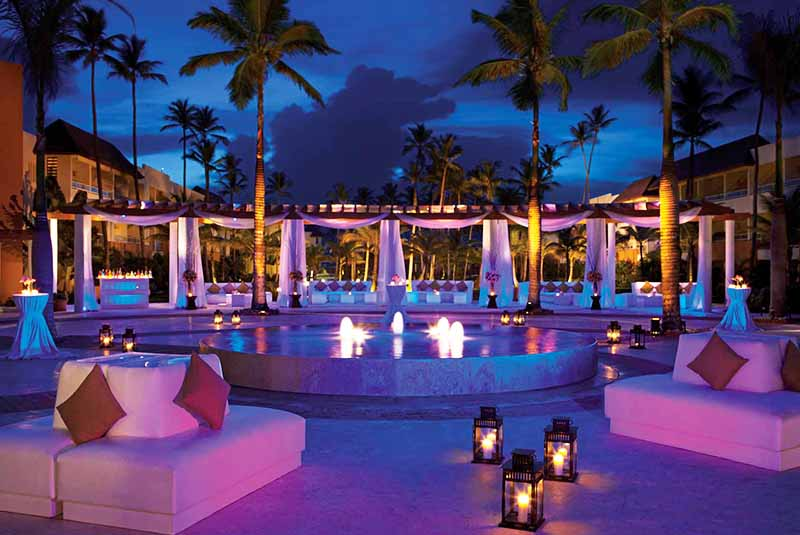 pool area at night - Secrets Royal Beach Punta Cana