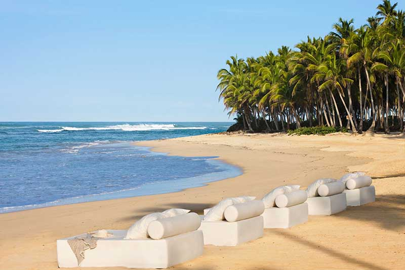 hotels beach in Uvero Alto in front of Excellence Punta Cana hotel - Dominican Republic