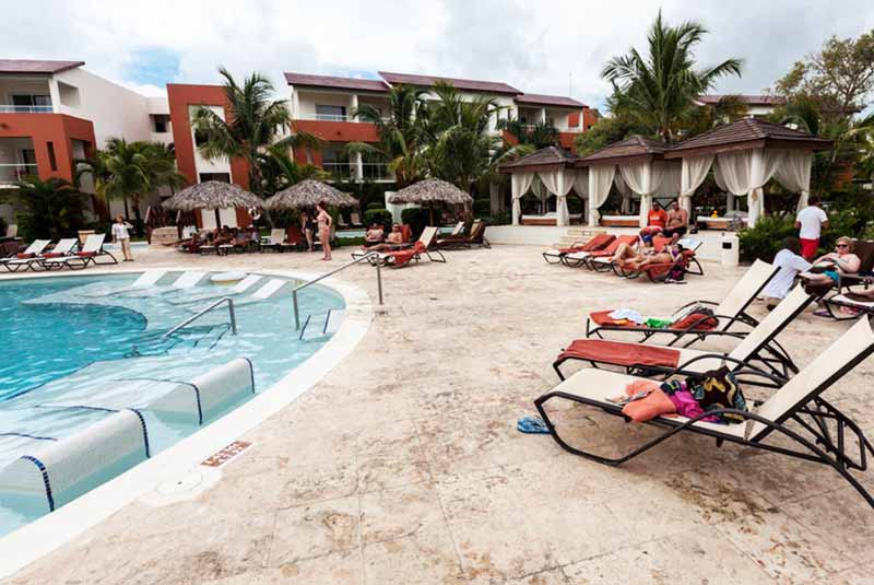 pool area of Now Garden hotel in Punta Cana - Dominican Republic