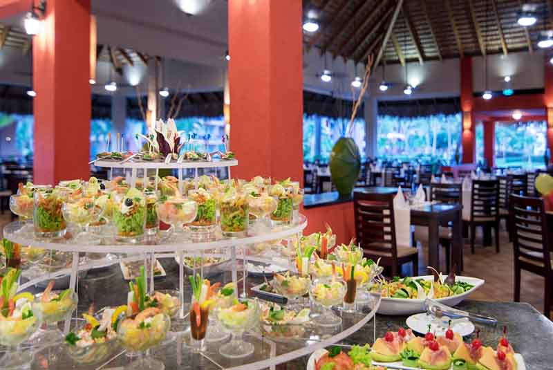food at restaurant in Punta Cana Princess hotel - Dominican Republic