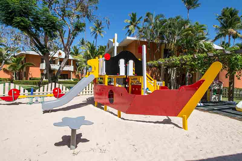 hotels kids club with sand box in Iberostar Dominicana hotel in Punta Cana