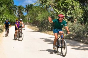 groups riding bikes in Macao - Punta Cana