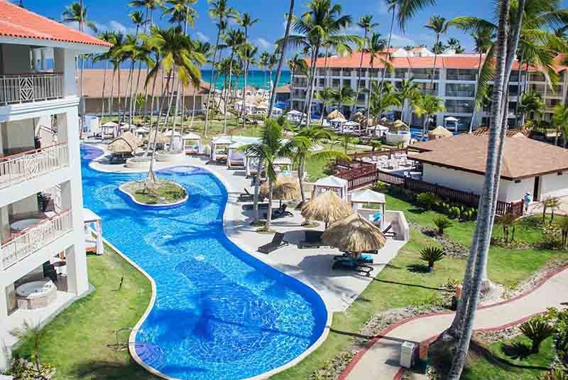 pool view and gardens in Majestic Mirage hotel in Punta Cana - Dominican Republic