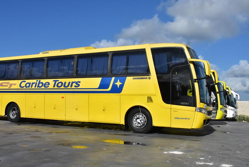 big bus from local bus transportation company in Bavaro - Punta Cana