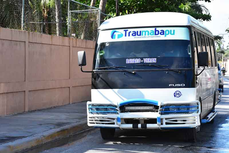 bus from local transportation company in Bavaro - Punta Cana