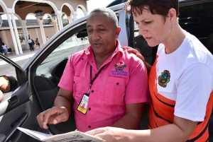 Outback Adventures staff getting information from local taxi driver in Bavaro - Punta Cana