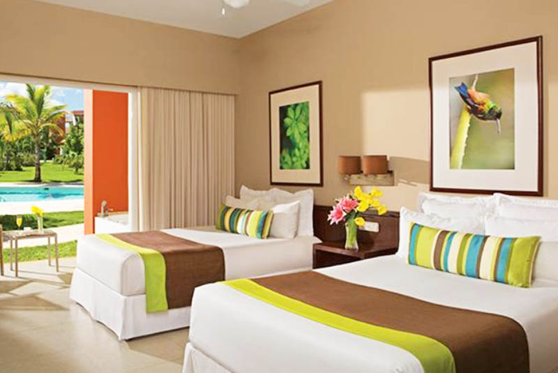 inside view of room at Now Garden Hotel in Punta Cana - Dominican Republic