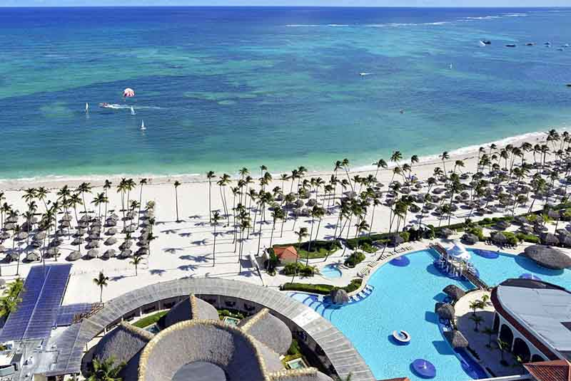 aerial view from hotel Paradisus Palma Real in Punta Cana - Dominican Republic