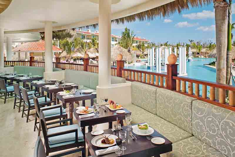 restaurant with pool view in Paradisus Punta Cana hotel in Bavaro - Dominican Republic
